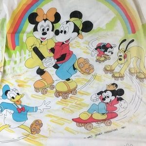 Vintage Mickey Minnie & Friends Twin Fitted Sheet